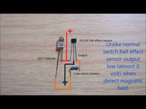 hall effect sensor switch wiring diagram youtube