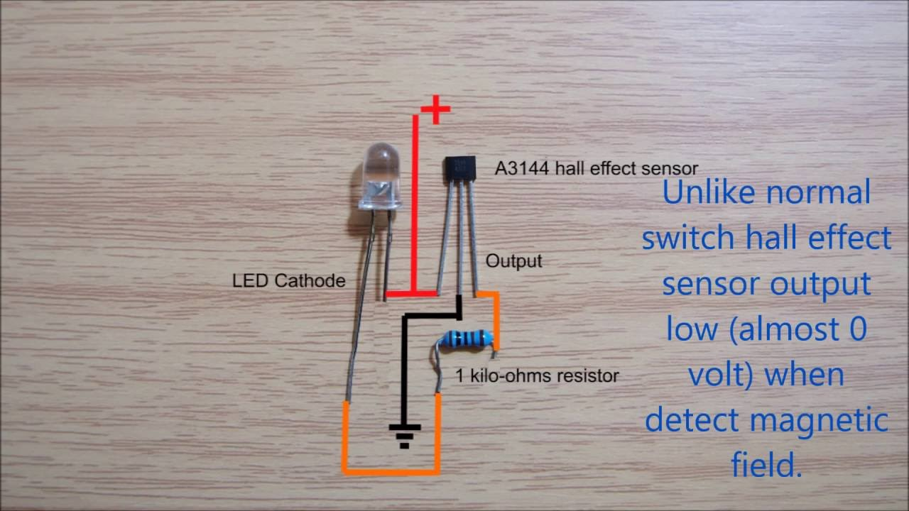 hall effect sensor switch wiring diagram youtube LED Connection Diagram 12 Pin Wire Diagram Led #17