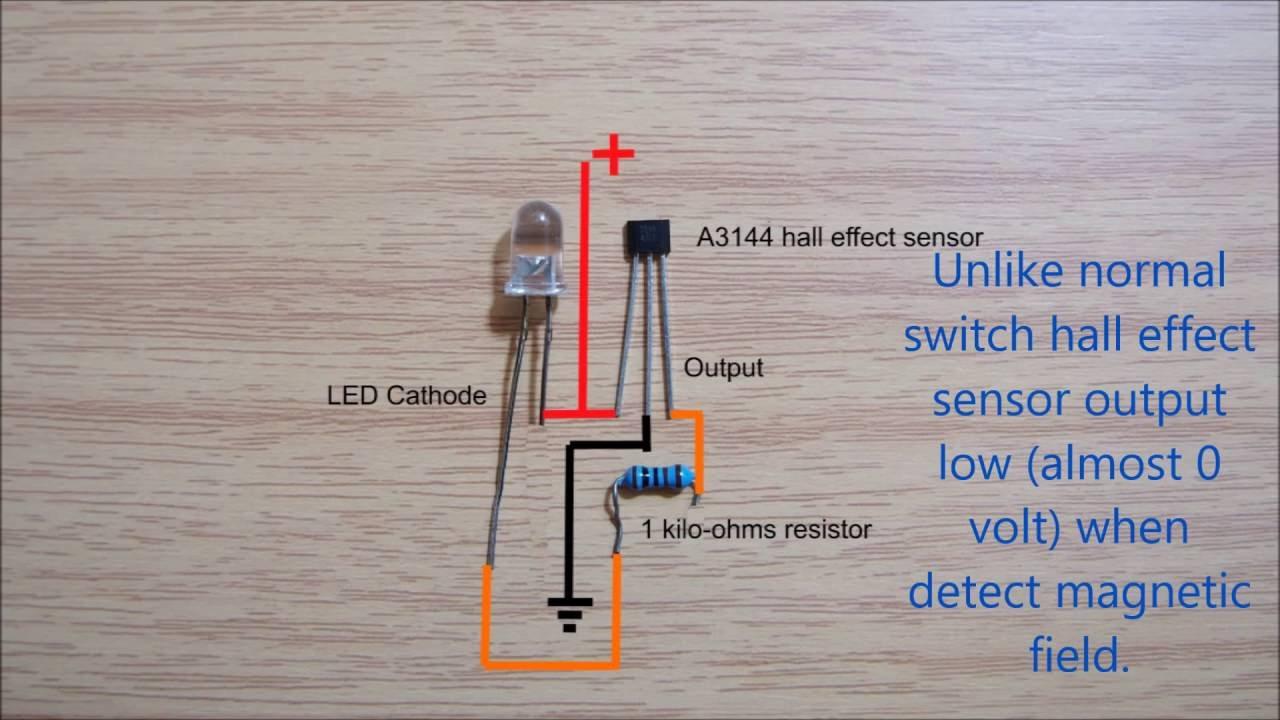 Hall effect sensor switch wiring diagram  YouTube