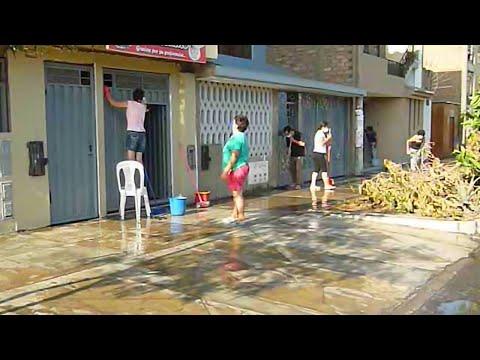 Coronavirus en Perú: En Comas los vecinos se unieron para limpiar las calles