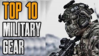 TOP 10 AMAZING MILITARY ROBOTS & GEAR 2020
