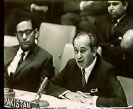 Zulfiqar Ali Bhutto speaking on Kashmir Issue