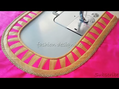 Stitching Of A Beautiful Back Neck Design Of Blouse | Fashion Designing
