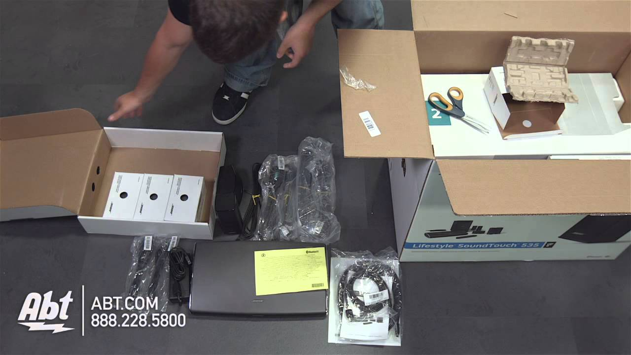 Unboxing Bose Lifestyle Soundtouch 535 Entertainment