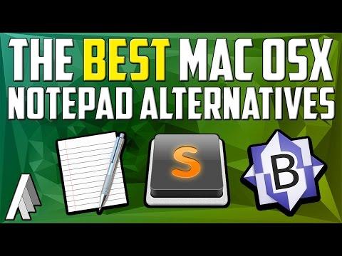 The Best Mac OSX Notepad Alternatives