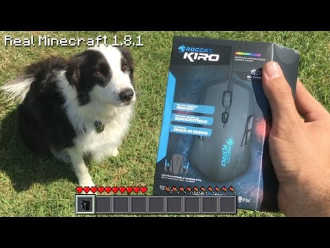 Real Life Minecraft - GIVEAWAY ROCCAT KIRO GAMING MOUSE CONTEST