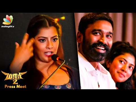 Dhanush Started Crying Suddenly : Varalakshmi Speech | Maari 2 Press Meet