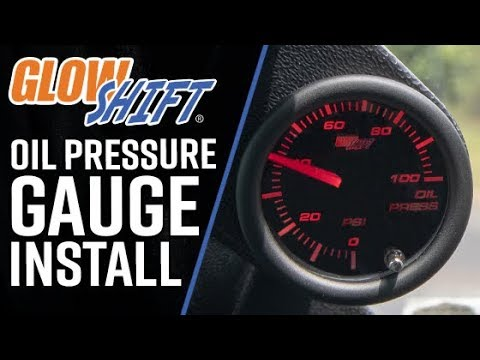 glowshift  how to install a 7 color series oil pressure gauge