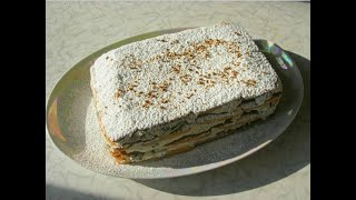 Торт без выпечки с творогом и черносливом