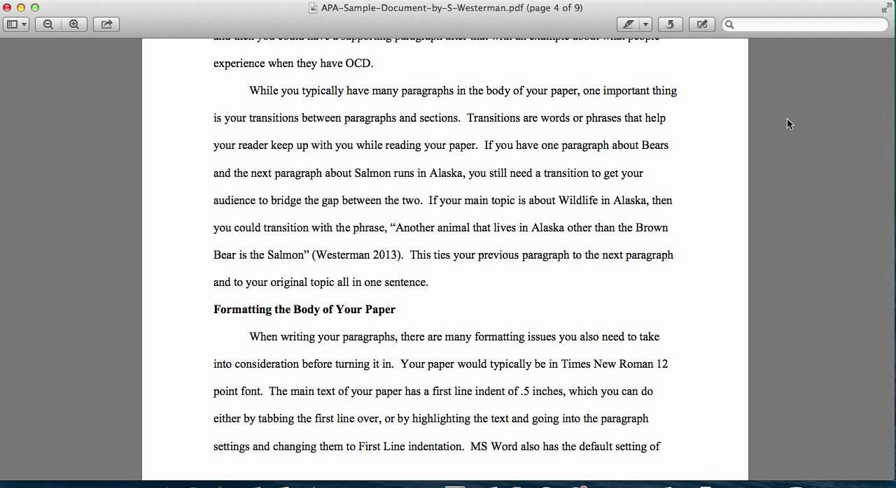 apa style writing format