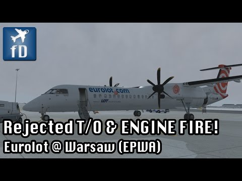 [FSX] Rejected T/O Training & ENGINE FIRE At V1 // Majestic Dash-8 PRO