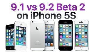 iPhone 5S iOS 9.1 vs iOS 9.2 Beta 2 / Public Beta 2 (Build # 13C5060d)
