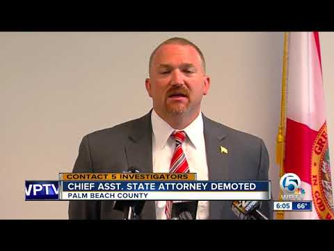 Top prosecutor at Palm Beach County State Attorney's Office removed as chief assistant