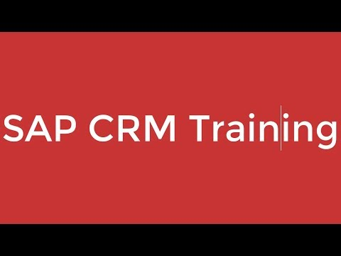 SAP CRM Training - Introduction to ERP and SAP CRM (Video 1)  | SAP CRM Training