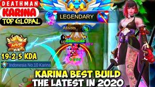 KARINA BEST BUILD IN 2020 | TOP GLOBAL KARINA D E A T H M A N  MOBILE LEGENDS