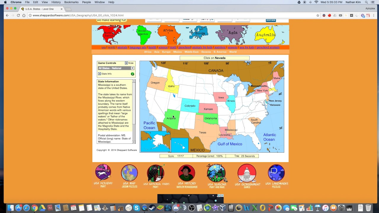 Elegant Sheppard Software: United States 100% 2: 63 Sec.