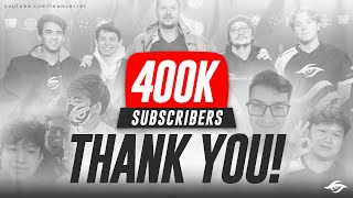 THANK YOU FOR 400 000 SUBSCRIBERS!