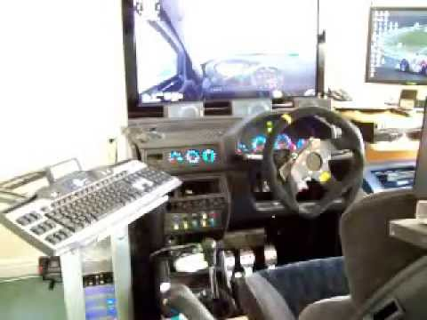 home made race sim dashboard youtube. Black Bedroom Furniture Sets. Home Design Ideas