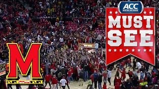 Maryland Fans Storm Court After Huge Overtime Win Against Virginia | ACC Must See Moment