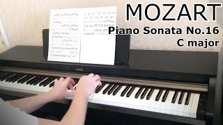 Моцарт: Соната №16 до мажор (обучение) Tutorial