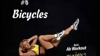 10 упражнений для плоского живота часть 2