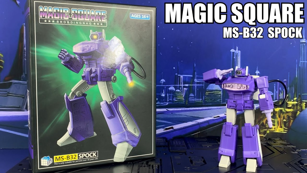 Magic Square MS-B32 SPOCK Legends Shockwave Unboxing and Review by Enewtabie
