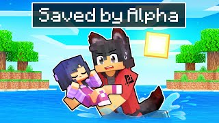 Saved By The ALPHA Wolf In Minecraft!