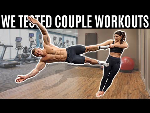 We tested viral COUPLES WORKOUTS... *partner home workout*