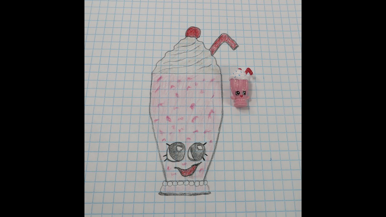 learn how to draw shopkins millie shake with paul pstoyreviews