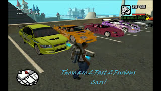 Fast and Furious cars in Grand Theft Auto San Andreas!