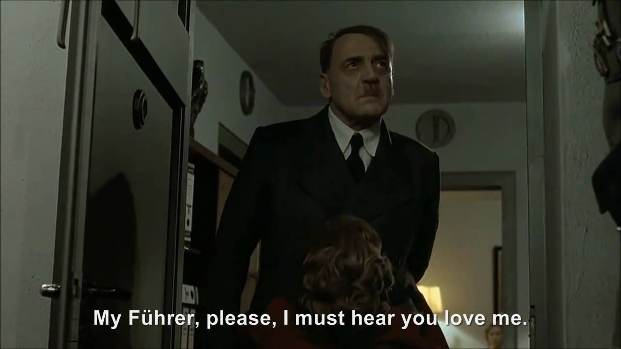 Hitler goes to bed