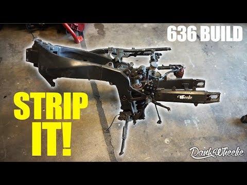 Spray Paint Frame Stripping - $600 Bike Build / CRASH UPDATE