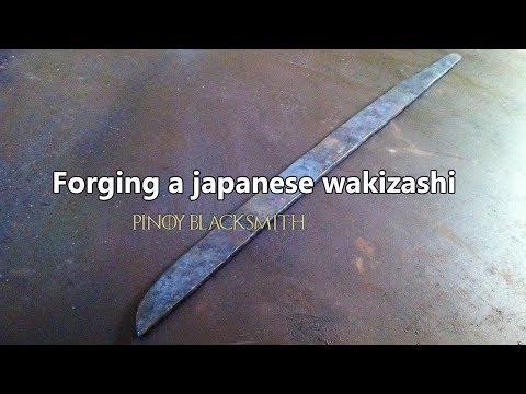 Forging a japanese wakizashi (long video)