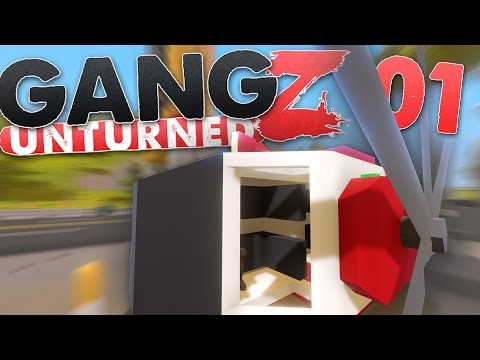 Unturned Hawaii: GangZ | Defend the Coaster Helicopter!! | Ep. 01 ( Hawaii Map )