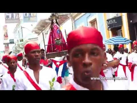 Desfile de Santa Barbara - tambores bata - Fest. del Caribe 2016
