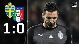 Italien vor WM-Aus: Schweden - Italien 1:0 Highlights | WM-Quali | DAZN