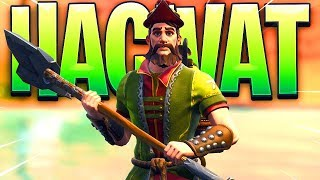 New Fortnite Hacivat Skin Gameplay..