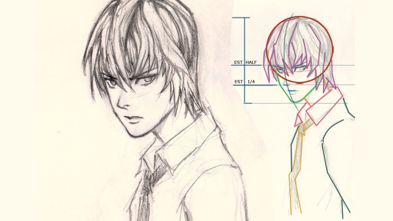 How To Draw Anime Face Light