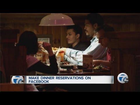 Make restaurant reservations from Facebook