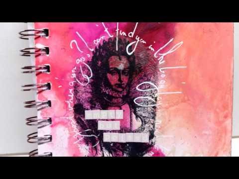 Art Journal Page - Queen Elizabeth