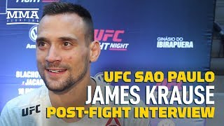 James Krause Refuses To Think About Next Fight After Win At UFC Sao Paulo: 'I've Barely Seen My Son'
