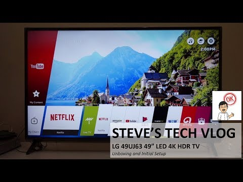 """LG 49UJ63 49"""" LED 4K UHD HDR TV Unboxing And Initial Review"""