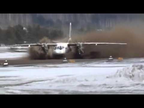 UTAir Aviation Ан 24 взлетает с раскисшей полосы An 24 flies