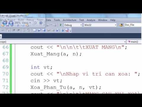 [Lập trình C/C++] Kĩ thuật xóa phần tử trong mảng 1 chiều - Phần 5