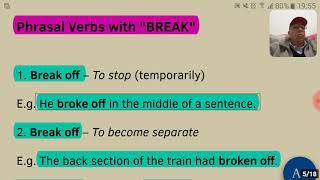 Verbos Frasais com BREAK (Phrasal Verbs with BREAK)