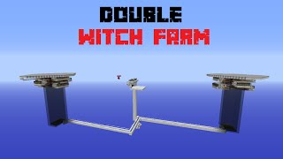 Minecraft - Double Witch Farm | +/- 13000 drops/h