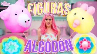 INTENTO HACER FIGURAS DE ALGODÓN DE AZÚCAR   MUY DIFÍCILES   MIS PASTELITOS