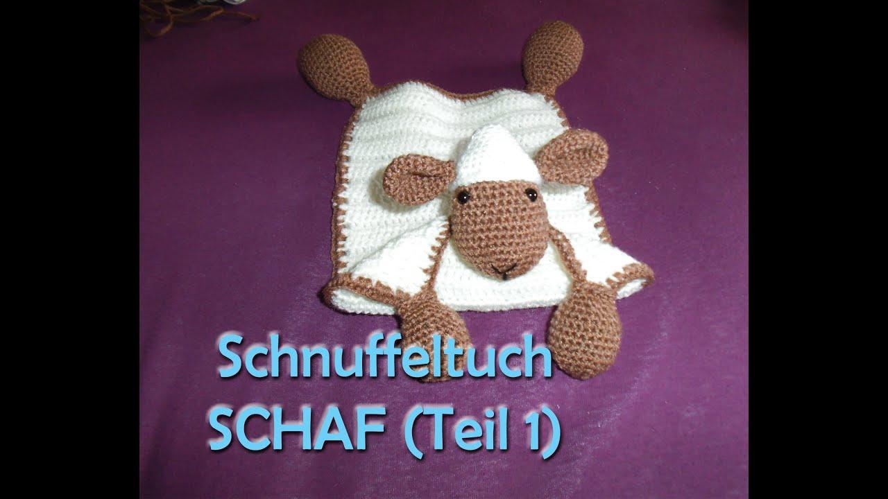 Schnuffeltuch Schaf Teil 1 - Amigurumi Häkelanleitung - YouTube