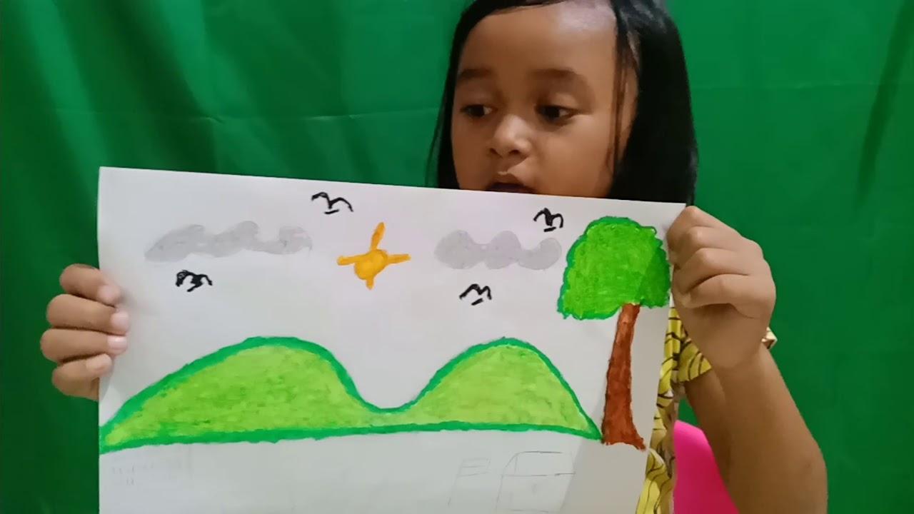 Belajar Menggambar Pemandangan Kelas 1 Sd Youtube