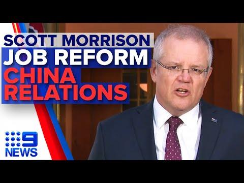 Scott Morrison on job reform, coronavirus, China trade relations | Nine News Australia
